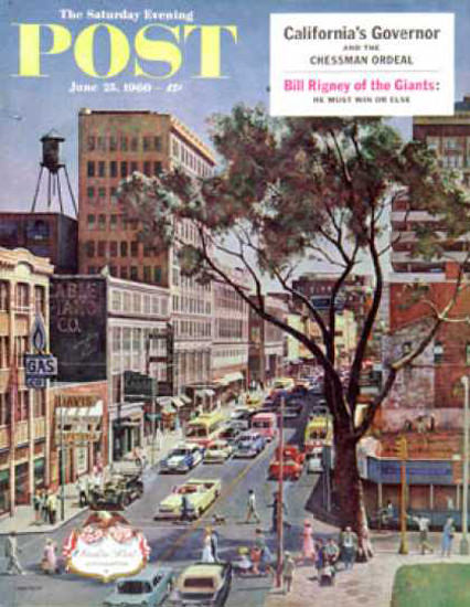 Saturday Evening Post Copyright 1960 Peachtree Street | Vintage Ad and Cover Art 1891-1970