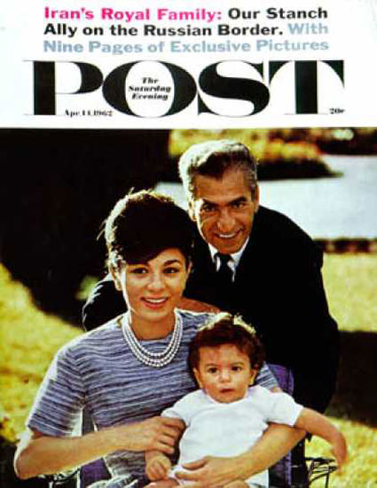 Saturday Evening Post Copyright 1962 Shah of Irans Family | Vintage Ad and Cover Art 1891-1970