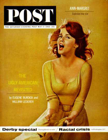 Saturday Evening Post Copyright 1963 Ann-Margaret Birdie | Sex Appeal Vintage Ads and Covers 1891-1970