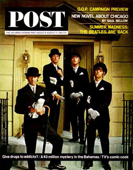 Saturday Evening Post Copyright 1964 Fleet Street Beatles | Sex Appeal Vintage Ads and Covers 1891-1970