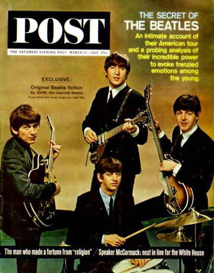 Saturday Evening Post Copyright 1964 The Beatles | Vintage Ad and Cover Art 1891-1970
