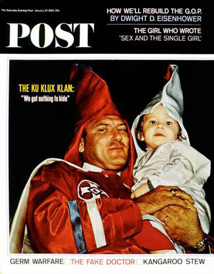 Saturday Evening Post Copyright 1965 Ku Klux Klansman | Vintage Ad and Cover Art 1891-1970