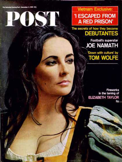 Saturday Evening Post Copyright 1966 Elizabeth Taylor   Sex Appeal Vintage Ads and Covers 1891-1970