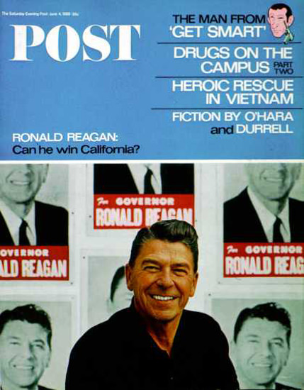 Saturday Evening Post Copyright 1966 Ronald Reagan | Vintage Ad and Cover Art 1891-1970