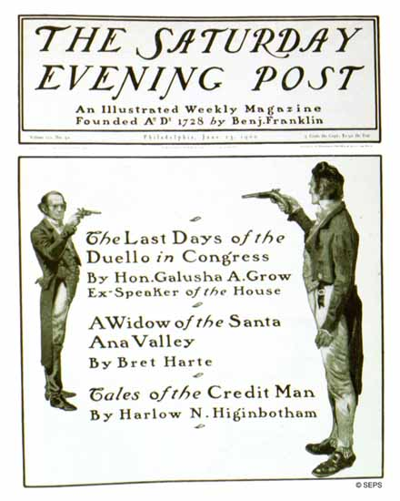 Saturday Evening Post Cover 1900_06_23 | The Saturday Evening Post Graphic Art Covers 1892-1930