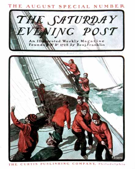 Saturday Evening Post Cover 1901_08_17 | The Saturday Evening Post Graphic Art Covers 1892-1930