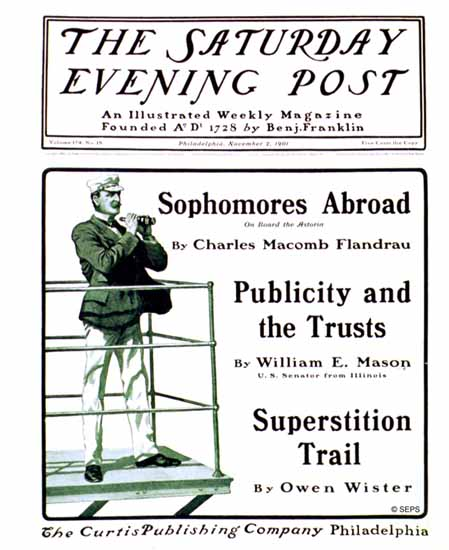 Saturday Evening Post Cover 1901_11_02 | The Saturday Evening Post Graphic Art Covers 1892-1930