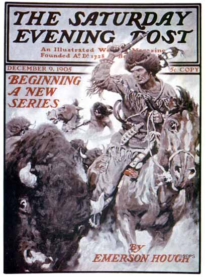 Saturday Evening Post Cover 1905_12_09 | The Saturday Evening Post Graphic Art Covers 1892-1930