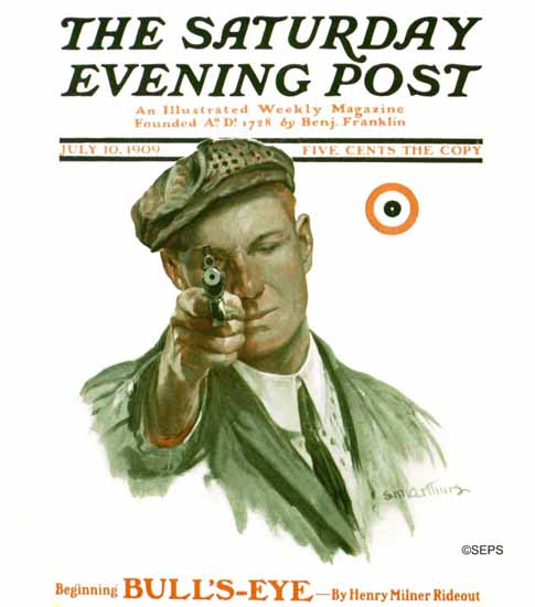 Saturday Evening Post Cover 1909_07_10   The Saturday Evening Post Graphic Art Covers 1892-1930