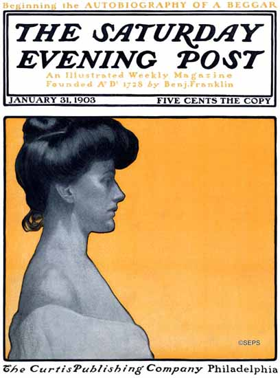 Saturday Evening Post Cover Art 1903_01_31 | The Saturday Evening Post Graphic Art Covers 1892-1930