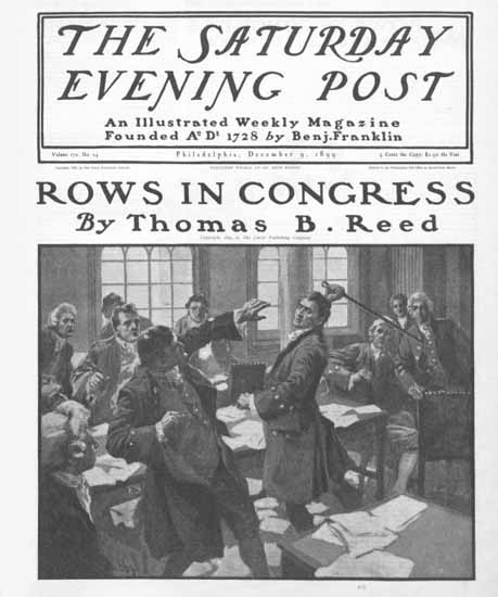 Saturday Evening Post Rows in Congress 1899_12_09 | The Saturday Evening Post Graphic Art Covers 1892-1930