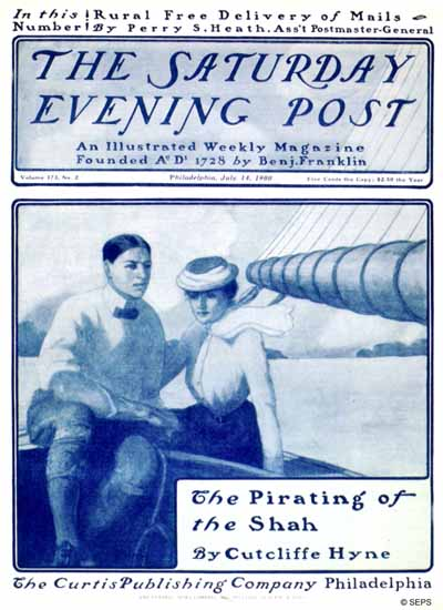 Saturday Evening Post The Pirating of the Saha 1900_07_14 | The Saturday Evening Post Graphic Art Covers 1892-1930