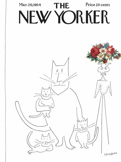 Saul Steinberg The New Yorker 1954_03_20 Copyright | The New Yorker Graphic Art Covers 1946-1970