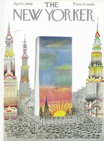 Saul Steinberg The New Yorker 1960_04_02 Copyright | The New Yorker Graphic Art Covers 1946-1970