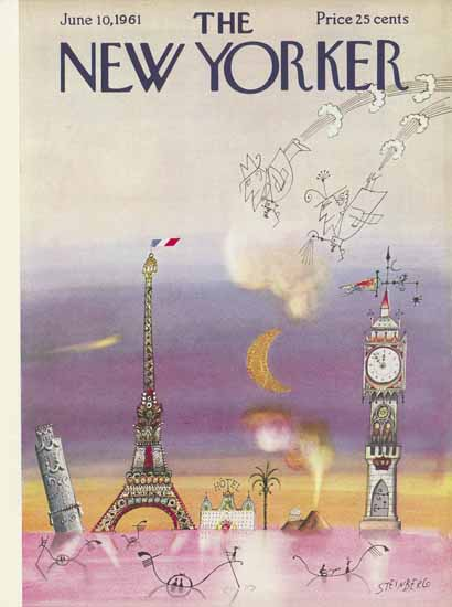 Saul Steinberg The New Yorker 1961_06_10 Copyright | The New Yorker Graphic Art Covers 1946-1970