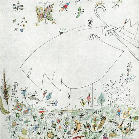 Saul Steinberg The New Yorker 1961_09_09 Copyright crop | Best of Vintage Cover Art 1900-1970