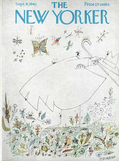 Saul Steinberg The New Yorker 1961_09_09 Copyright | The New Yorker Graphic Art Covers 1946-1970