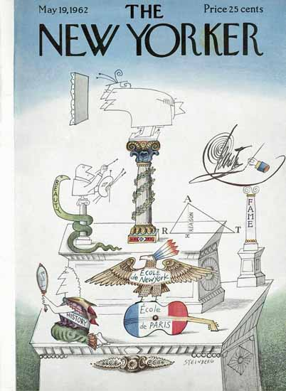 Saul Steinberg The New Yorker 1962_05_19 Copyright | The New Yorker Graphic Art Covers 1946-1970