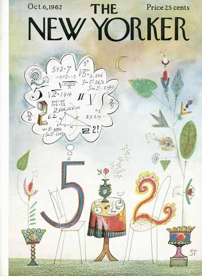 Saul Steinberg The New Yorker 1962_10_06 Copyright   The New Yorker Graphic Art Covers 1946-1970