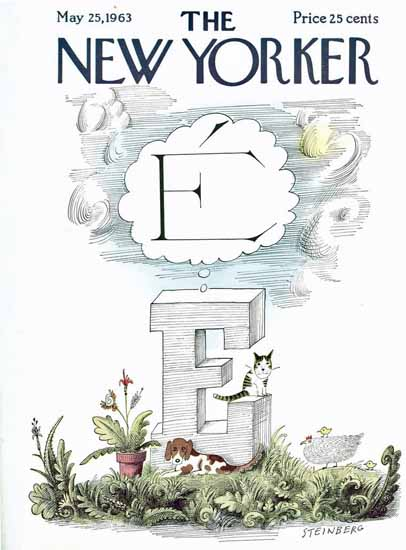 Saul Steinberg The New Yorker 1963_05_25 Copyright | The New Yorker Graphic Art Covers 1946-1970