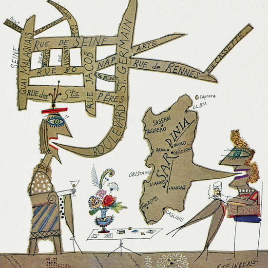 Saul Steinberg The New Yorker 1963_10_12 Copyright crop | Best of Vintage Cover Art 1900-1970