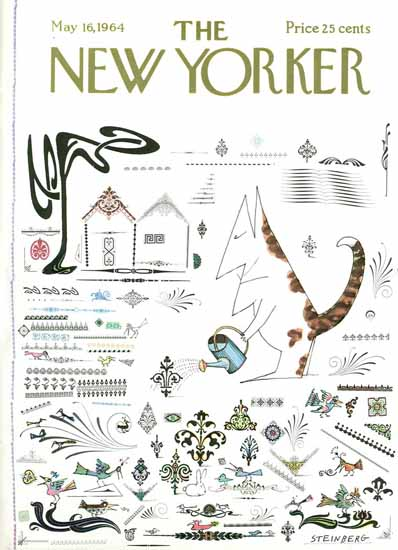 Saul Steinberg The New Yorker 1964_05_16 Copyright | The New Yorker Graphic Art Covers 1946-1970