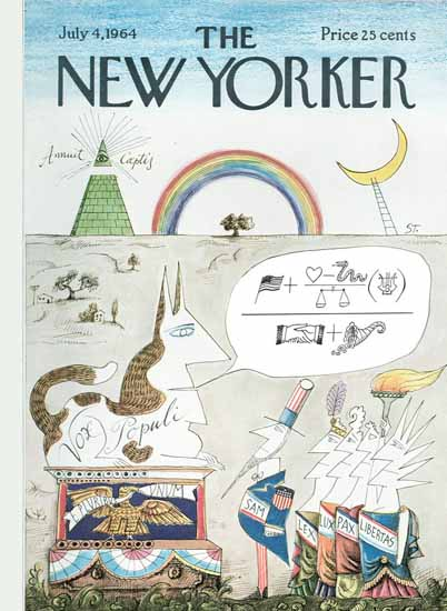 Saul Steinberg The New Yorker 1964_07_04 Copyright | The New Yorker Graphic Art Covers 1946-1970