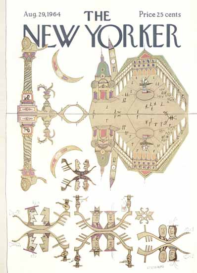 Saul Steinberg The New Yorker 1964_08_29 Copyright | The New Yorker Graphic Art Covers 1946-1970