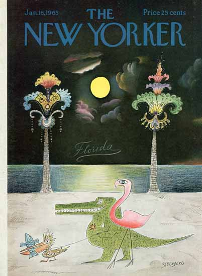 Saul Steinberg The New Yorker 1965_01_16 Copyright | The New Yorker Graphic Art Covers 1946-1970