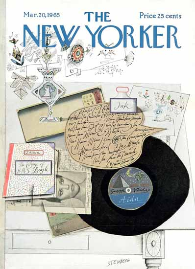 Saul Steinberg The New Yorker 1965_03_20 Copyright | The New Yorker Graphic Art Covers 1946-1970
