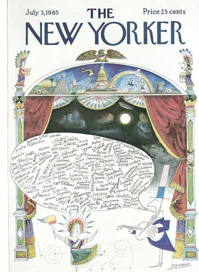 Saul Steinberg The New Yorker 1965_07_03 Copyright   The New Yorker Graphic Art Covers 1946-1970