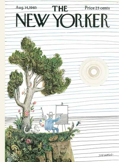 Saul Steinberg The New Yorker 1965_08_14 Copyright | The New Yorker Graphic Art Covers 1946-1970