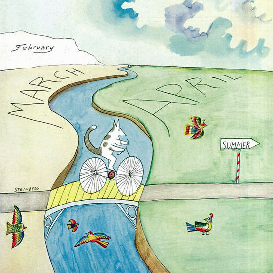 Saul Steinberg The New Yorker 1966_03_26 Copyright crop | Best of Vintage Cover Art 1900-1970