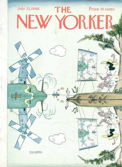 Saul Steinberg The New Yorker 1966_07_23 Copyright | The New Yorker Graphic Art Covers 1946-1970
