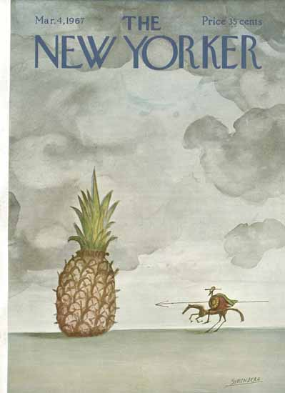 Saul Steinberg The New Yorker 1967_03_04 Copyright   The New Yorker Graphic Art Covers 1946-1970