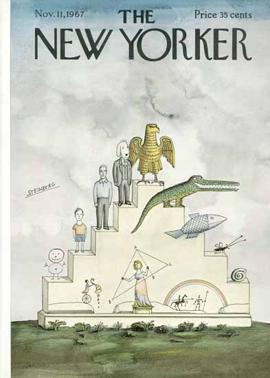 Saul Steinberg The New Yorker 1967_11_11 Copyright | The New Yorker Graphic Art Covers 1946-1970