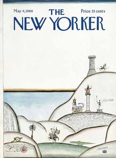 Saul Steinberg The New Yorker 1968_05_04 Copyright | The New Yorker Graphic Art Covers 1946-1970