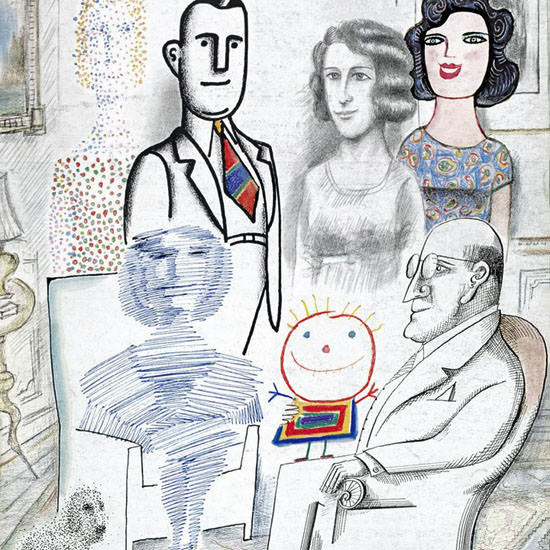 Saul Steinberg The New Yorker 1968_11_23 Copyright crop | Best of Vintage Cover Art 1900-1970