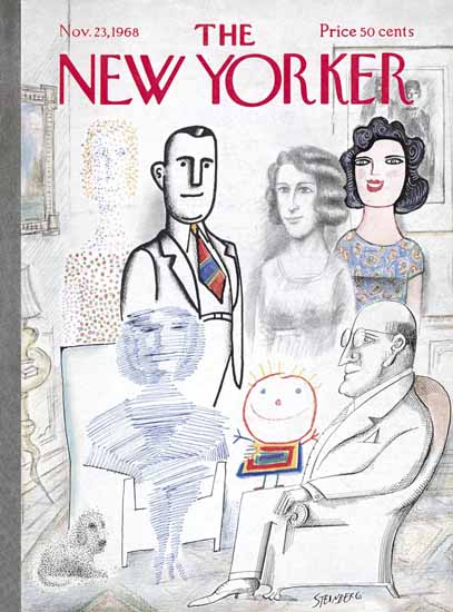 Saul Steinberg The New Yorker 1968_11_23 Copyright | The New Yorker Graphic Art Covers 1946-1970