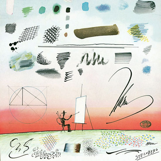 Saul Steinberg The New Yorker 1969_01_11 Copyright crop   Best of Vintage Cover Art 1900-1970