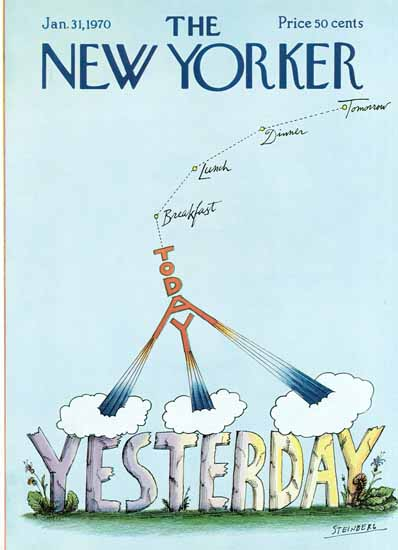 Saul Steinberg The New Yorker 1970_01_31 Copyright | The New Yorker Graphic Art Covers 1946-1970