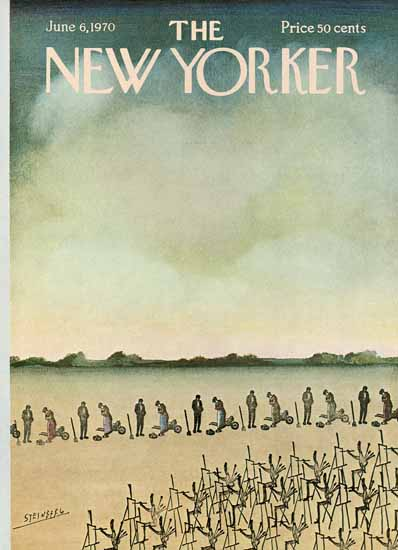 Saul Steinberg The New Yorker 1970_06_06 Copyright   The New Yorker Graphic Art Covers 1946-1970