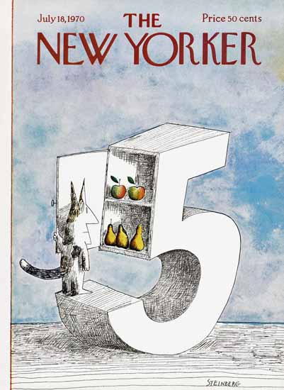 Saul Steinberg The New Yorker 1970_07_18 Copyright | The New Yorker Graphic Art Covers 1946-1970