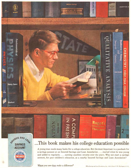Saving And Loan Foundation 1960 | Vintage Ad and Cover Art 1891-1970