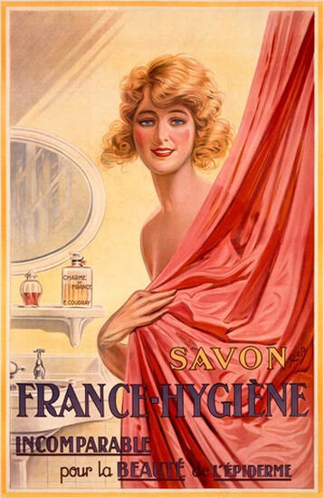 Savon France-Hygiene Soap For Beauty Girl | Sex Appeal Vintage Ads and Covers 1891-1970