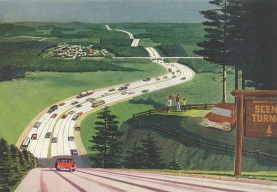 Scenic Turnout Country Highway | Vintage Travel Posters 1891-1970