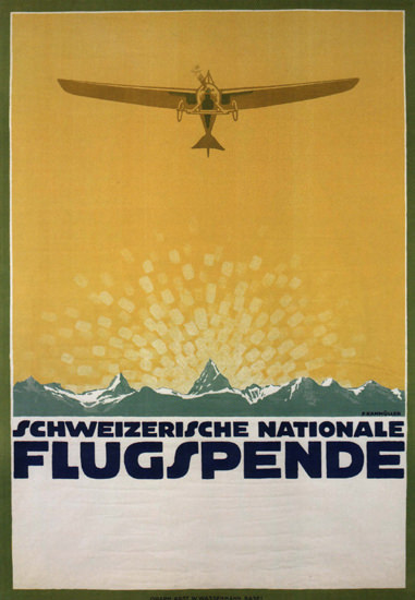 Schweizerische Nationale Flugspende Switzerland | Vintage Ad and Cover Art 1891-1970
