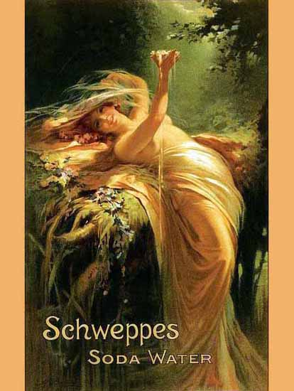 Schweppes Ad 1900 Soda Water Sex Appeal | Sex Appeal Vintage Ads and Covers 1891-1970