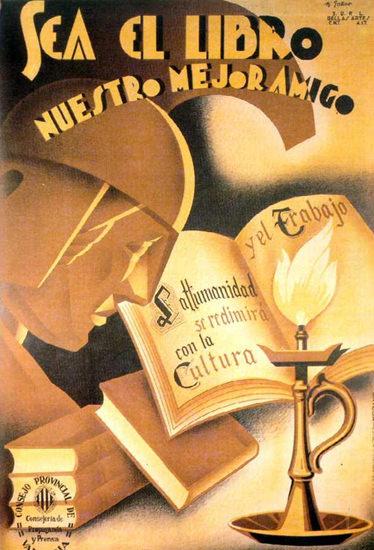 Sea El Libro Nuestro Mejor Amigo   Vintage War Propaganda Posters 1891-1970