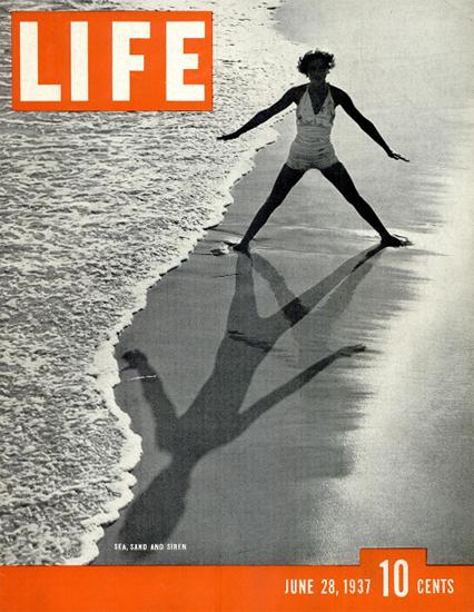 Sea Sand and Siren 28 Jun 1937 Copyright Life Magazine   Life Magazine BW Photo Covers 1936-1970
